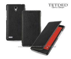 Кожаный чехол книжка TETDED для Xiaomi Redmi Note