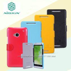 Кожаный чехол книжка Nillkin Fresh Series для HTC One DUAL802d