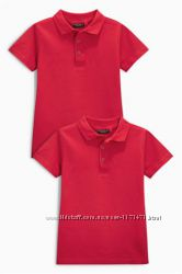 Рубашки поло Next Англия красные 6-9 лет большемерят