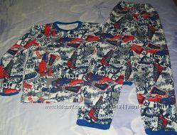 Тепленькая пижамка из натуральной ткани р140-150 Недорого