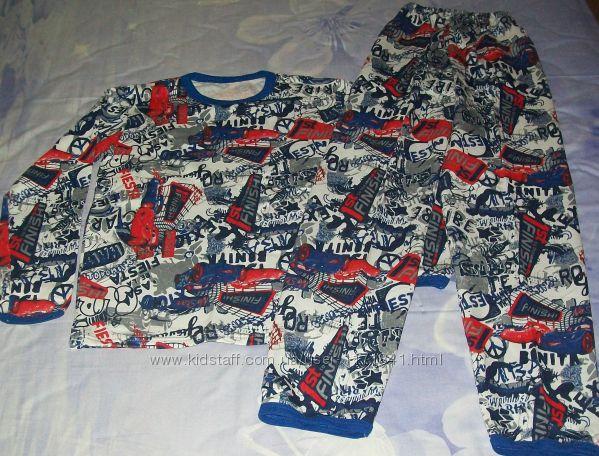 Хлопковая пижама с начесом р140-150