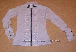 Красивая нарядная блуза школьницам  р110-152