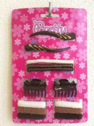 набор аксессуаров для волос, зажимы, резинки, крабы, резинка, краб для воло