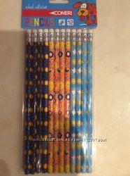 Простые карандаши с ластиками, 12шт в упаковке,