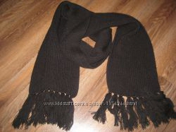 Черный шарф гладкий