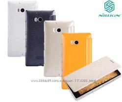 Кожаный чехол книжка Nillkin Sparkle Series для Nokia Lumia 930