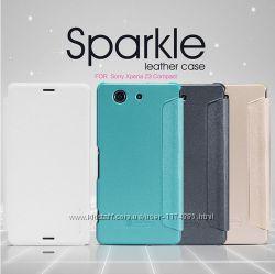 Кожаный чехол книжка Nillkin Sparkle Series для Sony Xperia Z3 Compact