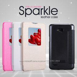 Кожаный чехол книжка Nillkin Sparkle Series для LG D380 L80 Dual