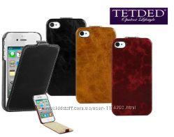 Кожаный чехол флип TETDED Lava Series для Apple iPhone 44S