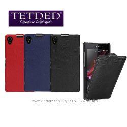 Кожаный чехол флип TETDED для Sony Xperia Z1