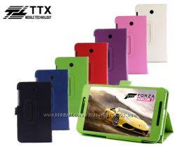 Кожаный чехол-книжка TTX с функцией подставки для Asus Fonepad 7 FE375CG
