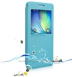 Кожаный чехол книжка Nillkin Sparkle Series для Samsung A500H Galaxy A5