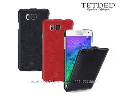 Кожаный чехол флип TETDED для Samsung G850F Galaxy Alpha