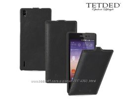 Кожаный чехол флип TETDED для Huawei Ascend P7