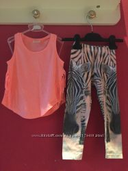 Летняя одежда ZARA для девочки р. 3-4 года