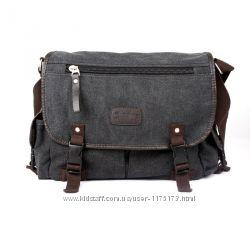 Мужская сумка на плечо Quadro текстиль и PU кожа