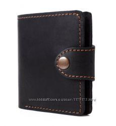 Черный мужской кожаный кошелек COOPER портмоне бумажник