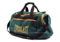 Зеленая мужская спортивная сумка EVERLAST желтая молния