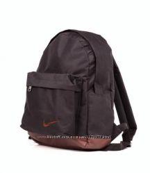 Мужской Городской рюкзак черный Nike mini полиестр и кожа PU