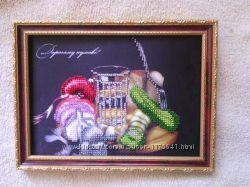 Картина Дорогому кумові с огурцом