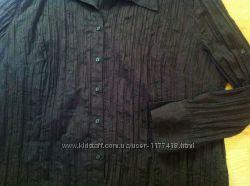 Нарядная темно-коричневая блузка 56 размер