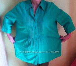 Рубашка женская бирюзовая C&A большого размера