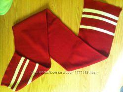 Красный акриловый шарф