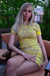 Шикарное короткое модное платье DG. Модна сукня