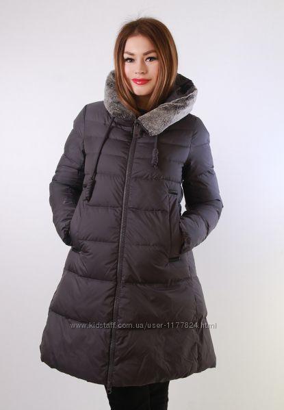 Акция Зимняя куртка с мехом кролика био-пух Clasna, M, L, XL