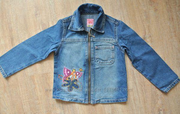 Джинсовая куртка пиджак размер 104 Gloria Jeans