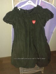 Платье Moschino оригинал черное нарядное р. 110-116, 6 лет