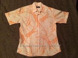 Рубашка мужская приталенная Slim Fit, размер М