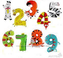 Воздушный шар - цифра 1, 2, 3, 4, 5, 6, 7, 8, 9