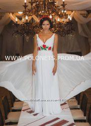 Дизайнерское свадебное платье в украинском стиле