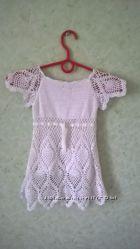 Нарядное белое платье 100 хлопок
