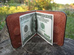 Мужской кожаный зажим для денег, кошелек. Украина. Розница и Опт.