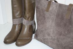 Soldi - сапоги и сумка. Натуральная кожа и замша