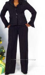 Деловой офисный костюм женский до 52 р двойка тройка
