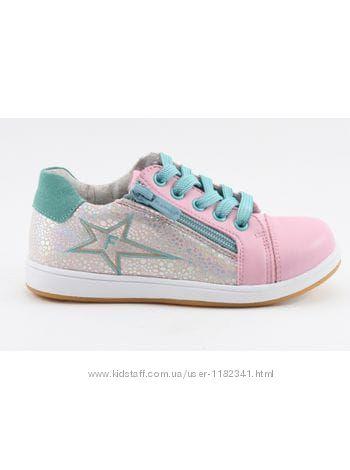 Полуботинки - кроссовки Flamingo, цвет розовый, материал микрофибра