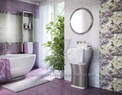 Плитка ванная InterCerama METALICO фиолетовая темная 89052 23x50 новая