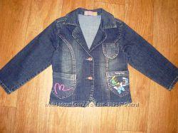 Джинсовый пиджак на девочку 5 - 6 лет.