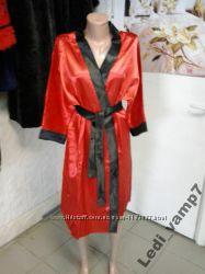 Атласный халат женский