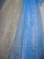 Тюль органза с вышивкой Круги
