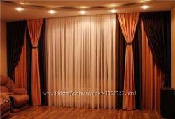 Тюль гардина шторы в комнату спальню гостинную зал