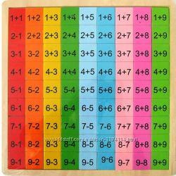 Таблица  сложения-вычитания  из дерева для обучения