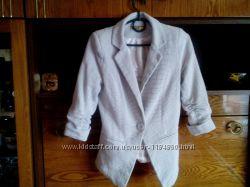Пиджак в мелкую клетку, три четверти рукав