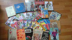 Много книг, журналов по вязанию крючком и спицами