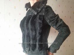 Куртка замшевая с мехом кролика