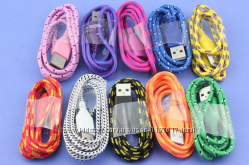 Прочный плетеный кабель micro USB юсб  зарядное устройство адаптер