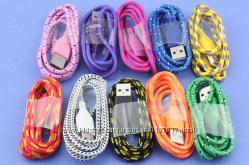 Прочный плетеный кабель USB 30  8 pin lightning для Iphone  зарядное